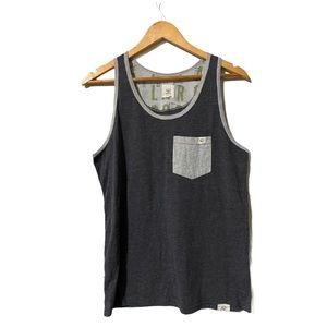 Tentree Tank Top Front Pocket design size M